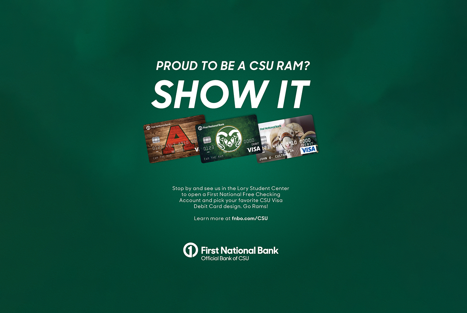 First National Bank ad